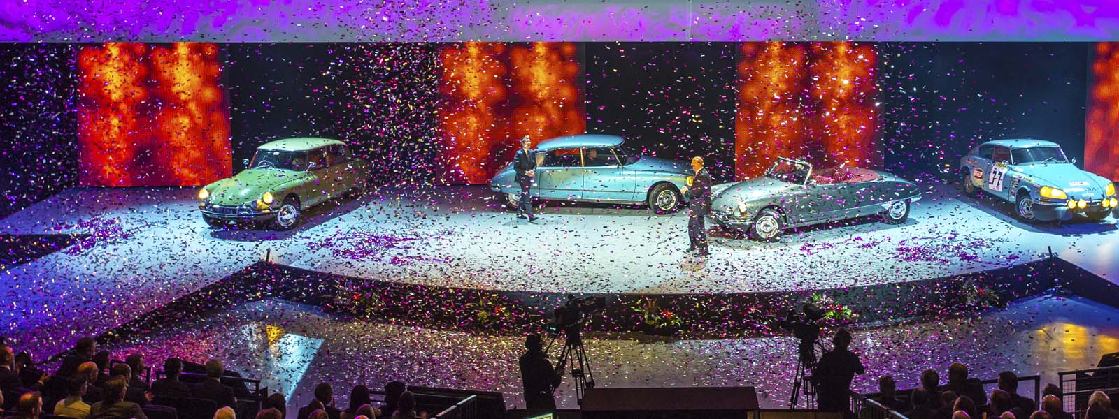 Slider – Citroen Dealers Conference pink silver confetti